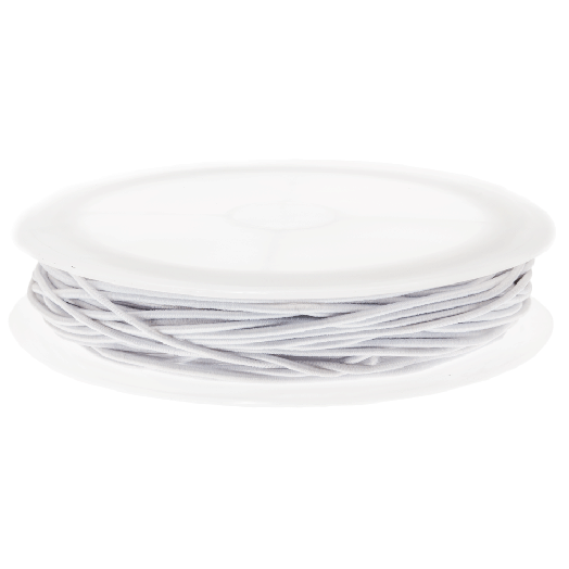 Colored Elastic Thread (1 mm) White (9,5 Meter)