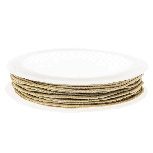 Elastic Thread (0.6 mm) Light Sand (19 Meter)