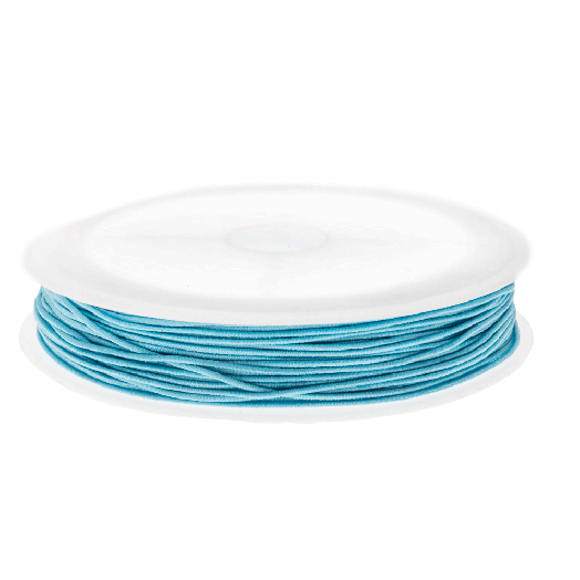 Colored Elastic Thread (0.6 mm) Baby Blue (19 Meter)