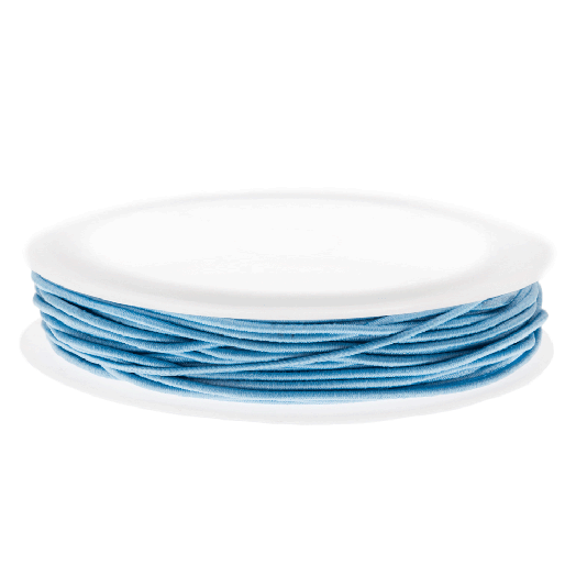 Colored Elastic Thread (0.6 mm) Light Blue (19 Meter)