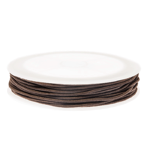 Colored Elastic Thread (1 mm) Chocolate (9,5 Meter)