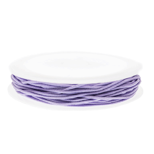 Colored Elastic Thread (1 mm) Lavender (9,5 Meter)