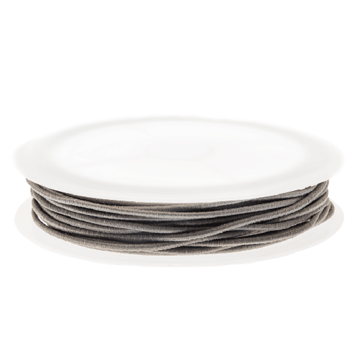 Colored Elastic Thread (1,5 mm) Warm Grey (6,3 Meter)