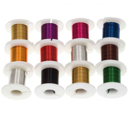 Copper Wire (0.40 mm) Mix Color (12 x 2.75 Meter)