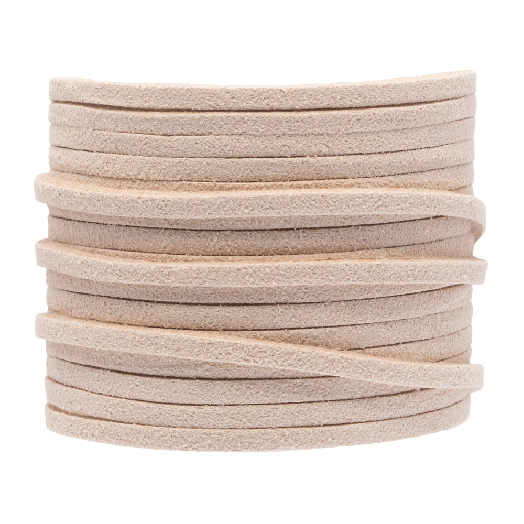 Faux Suede Cord (3 mm) Nude (5 Meter)