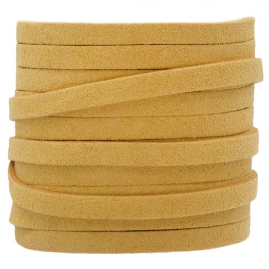 Faux Suede Cord (5 mm) Gold Sand (5 Meter)