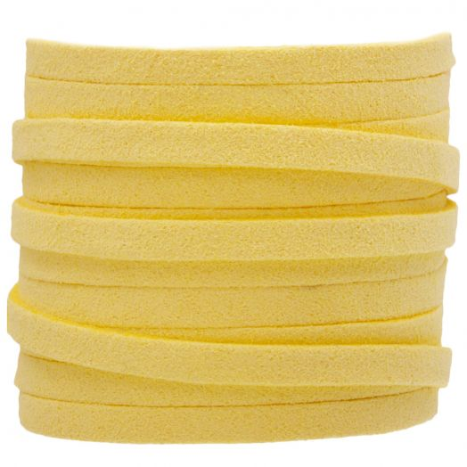 Faux Suede Cord (5 mm) Yellow (5 Meter)