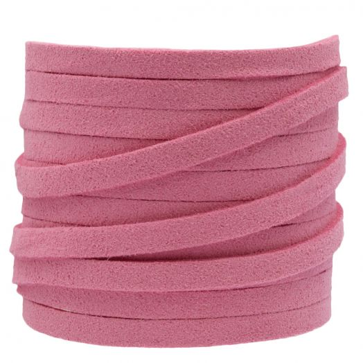 Faux Suede Cord (5 mm) Party Pink (5 Meter)