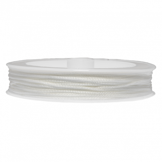 Satin Cord (0.8 mm) White (20 Meter)