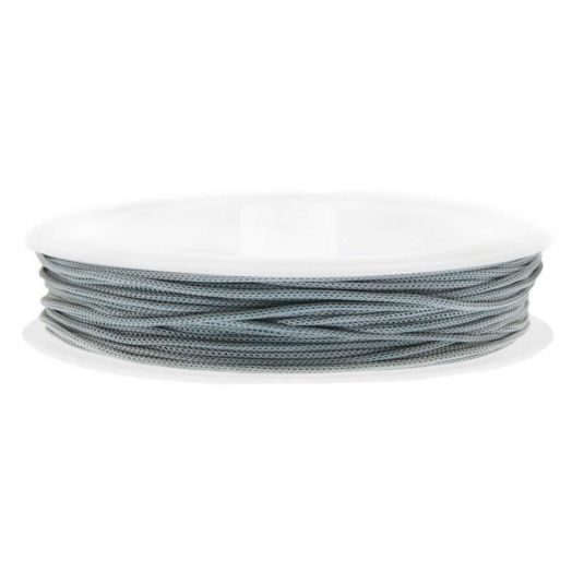Satin Cord (0.5 mm) Cool Grey (25 Meter)