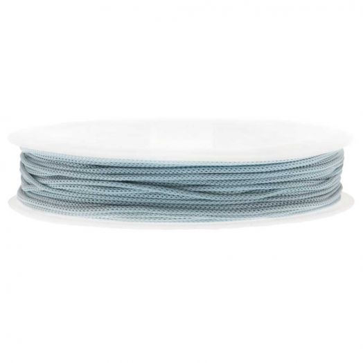 Satin Cord (0.8 mm) Soft Blue (20 Meter)
