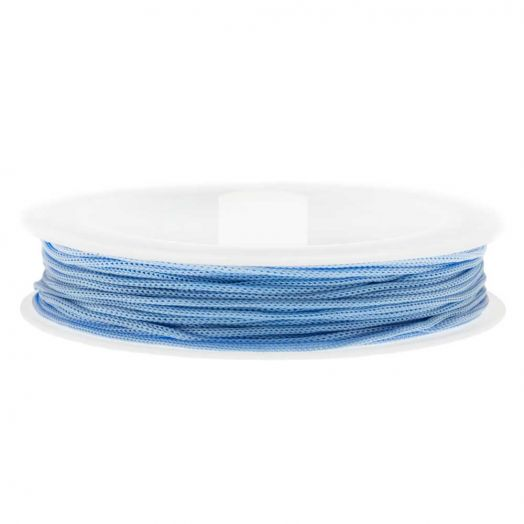 Satin Cord (0.5 mm) Light Blue (25 Meter)