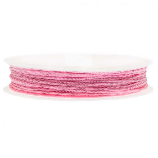 Satin Cord (0.8 mm) Strong Pink (20 Meter)