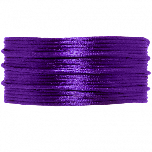 Satin Cord (1 mm) Dark Purple (20 Meter)