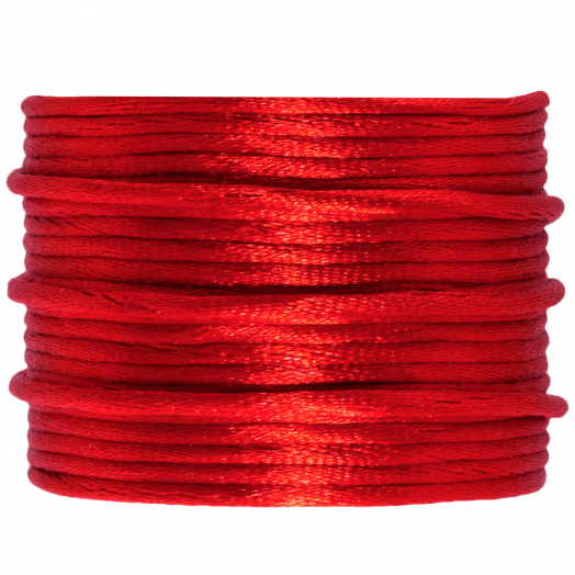 Satin Cord (2 mm) Bright Red (15 Meter)