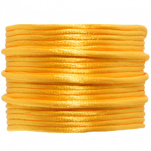 Satin Cord (2 mm) Mango Yellow (15 Meter)