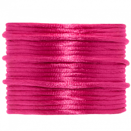 Satin Cord (2 mm) Hot Pink (15 Meter)