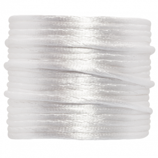 Satin Cord (2 mm) White (15 Meter)