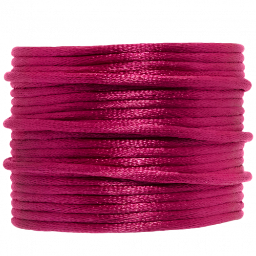 Satin Cord (2 mm) Fuchsia (15 Meter)