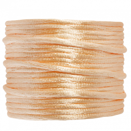 Satin Cord (2 mm) Light Peach (15 Meter)