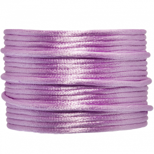 Satin Cord (2 mm) Lilac (15 Meter)