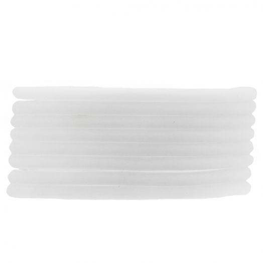 Rubber Cord (3 mm) White (5 Meter) hollow inside