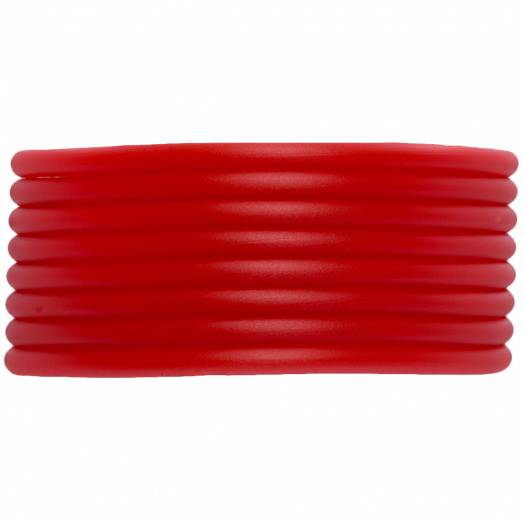 Rubber Cord (2 mm) Bright Red (5 Meter) hollow inside