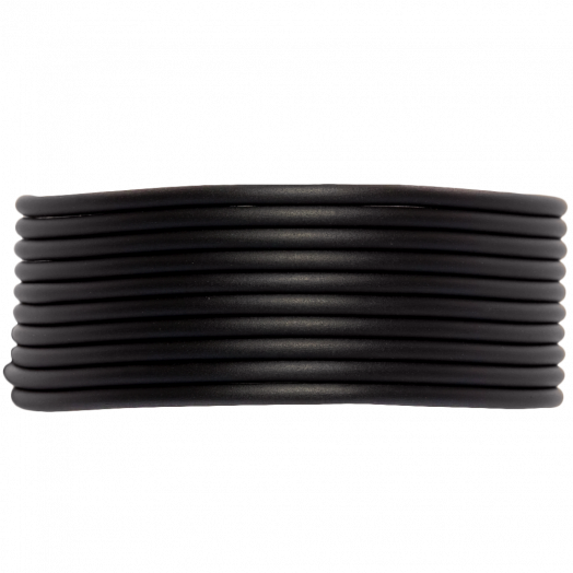 Rubber Cord (2 mm) Black (5 Meter) hollow inside
