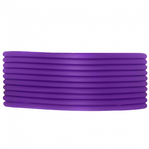 Rubber Cord (2 mm) Perfect Purple (5 Meter) hollow inside