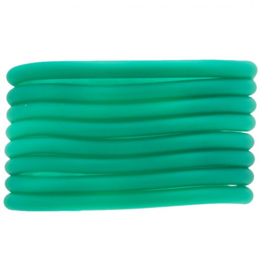 Rubber Cord (4 mm) Bright Sea (5 Meter) hollow inside