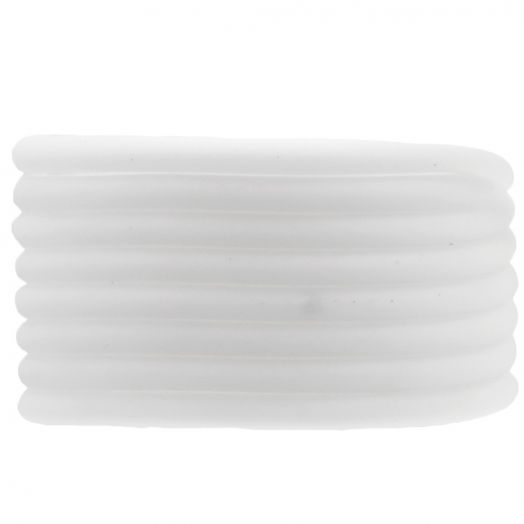 Rubber Cord (4 mm) White (5 Meter) hollow inside