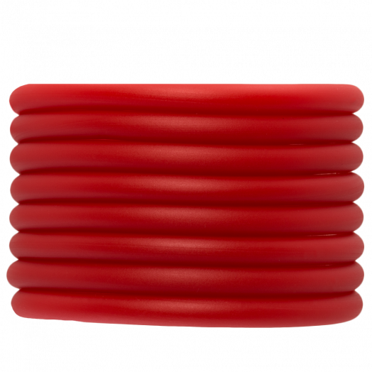 Rubber Cord (5 mm) Bright Red (2 Meter) hollow inside
