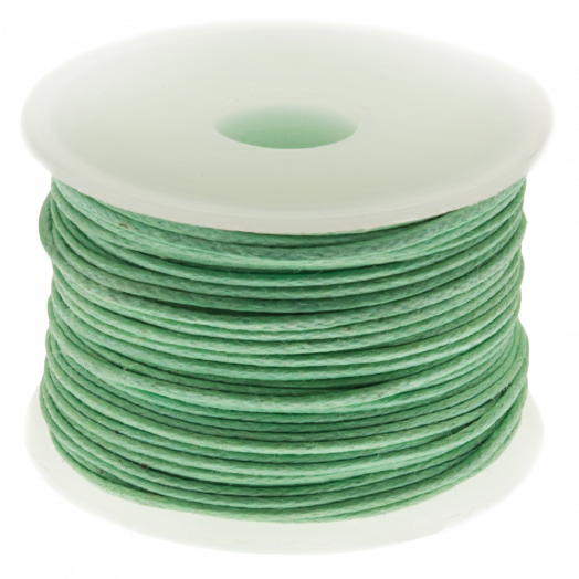Waxed Cotton Cord (0.5 mm) Bright Mint Green (25 Meter)