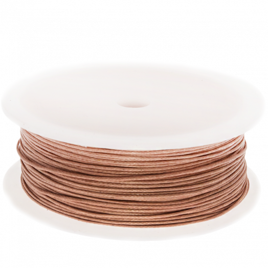 Waxed Cotton Cord (0.5 mm) Peach Rose (100 Meter)