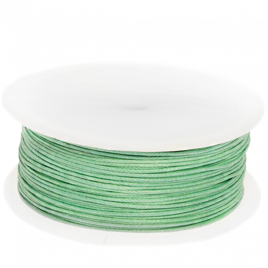 Waxed Cotton Cord (0.5 mm) Bright Mint Green (100 Meter)