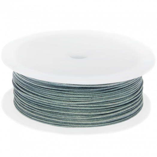 Waxed Cotton Cord (0.5 mm) Stone Grey (100 Meter)