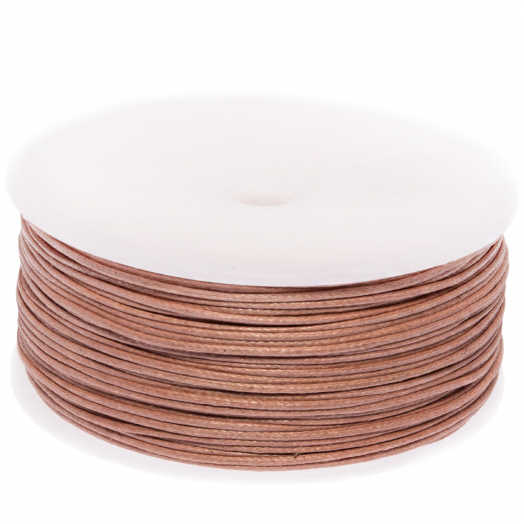 Waxed Cotton Cord (1 mm) Peach Rose (90 Meter)