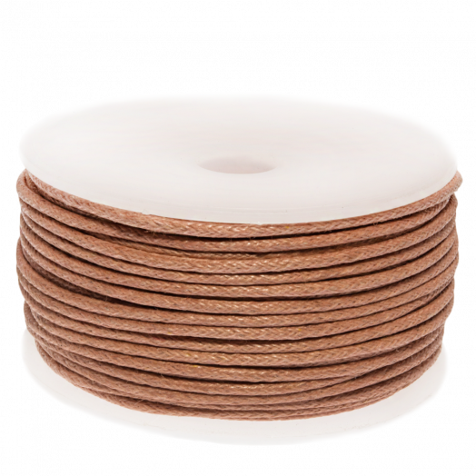 Waxed Cotton Cord (1.5 mm) Peach Rose (25 Meter)