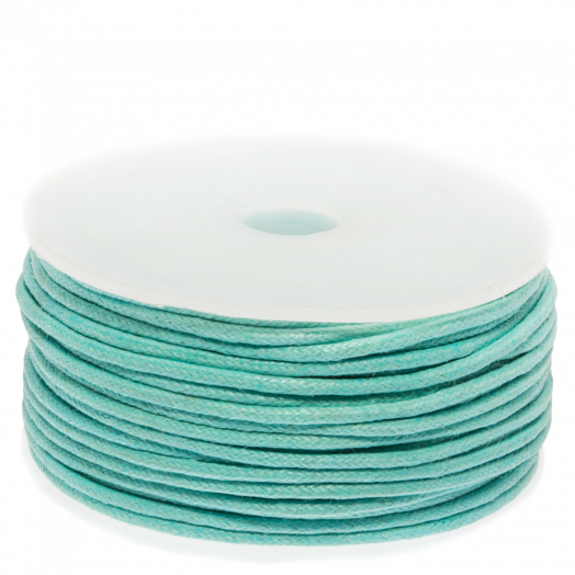 Waxed Cotton Cord (1.5 mm) Peppermint (25 Meter)