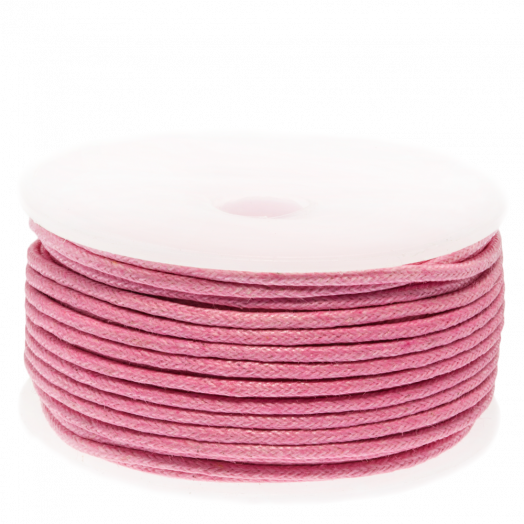 Waxed Cotton Cord (1.5 mm) Pink (25 Meter)