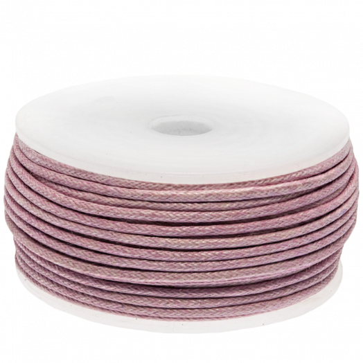 Waxed Cotton Cord (1.5 mm) Soft Violet (25 Meter)