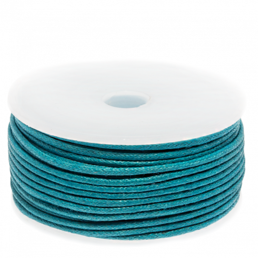 Waxed Cotton Cord (1.5 mm) Dark Sky Blue (25 Meter)