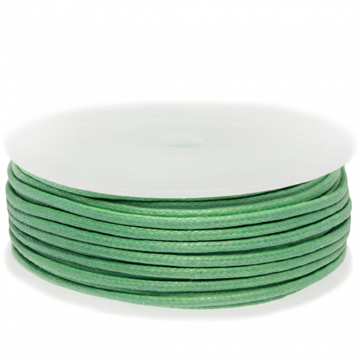 Waxed Cotton Cord (2 mm) Bright Mint Green (25 Meter)