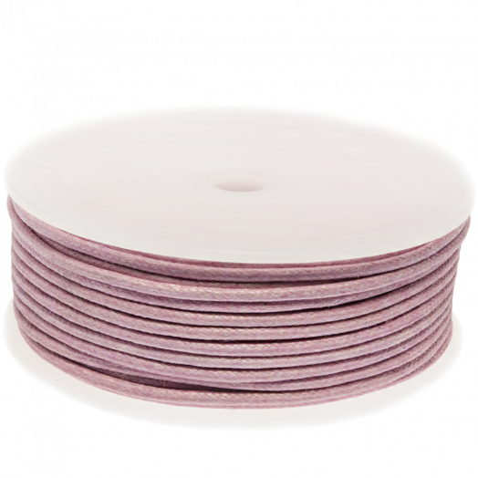 Waxed Cotton Cord (2 mm) Soft Violet (25 Meter)