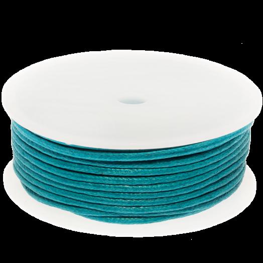 Waxed Cotton Cord (2 mm) Dark Sky Blue (25 Meter)