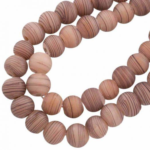 Glass Beads Mat (10 mm) Camel Brown (22 pcs)