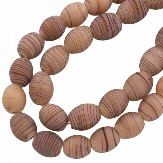 Glass Beads Mat (11 x 9 mm) Camel Brown (17 pcs)