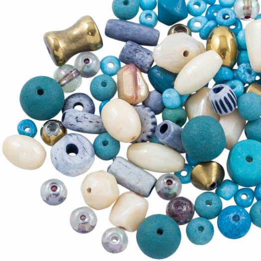 Advantage Package - Glass Beads (Various Sizes) Mix Color (50 grams)