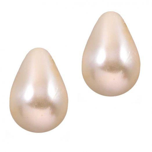 DQ Glass Pearls Drop (9 x 6 mm) Old Lace (20 pcs)