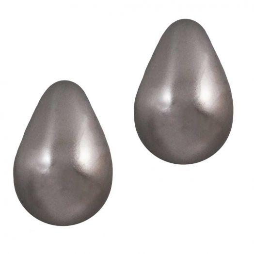 DQ Glass Pearls Drop (9 x 6 mm) Latte (20 pcs)